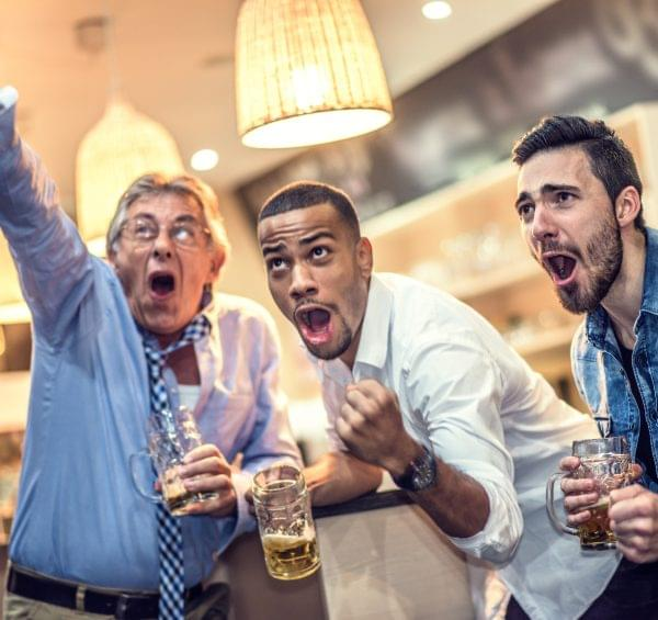 Men Binge Drinking On Weekend